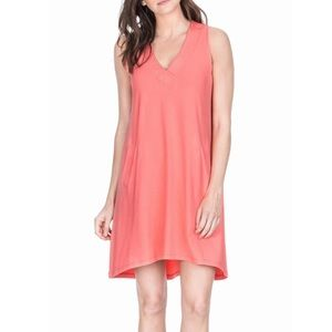 Lilla P Jersey V-neck Shift Dress
